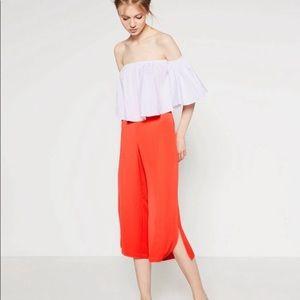 Zara Orange Culottes